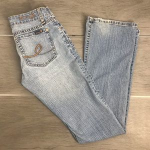 Seven 7 jeans light washed bootcut 26